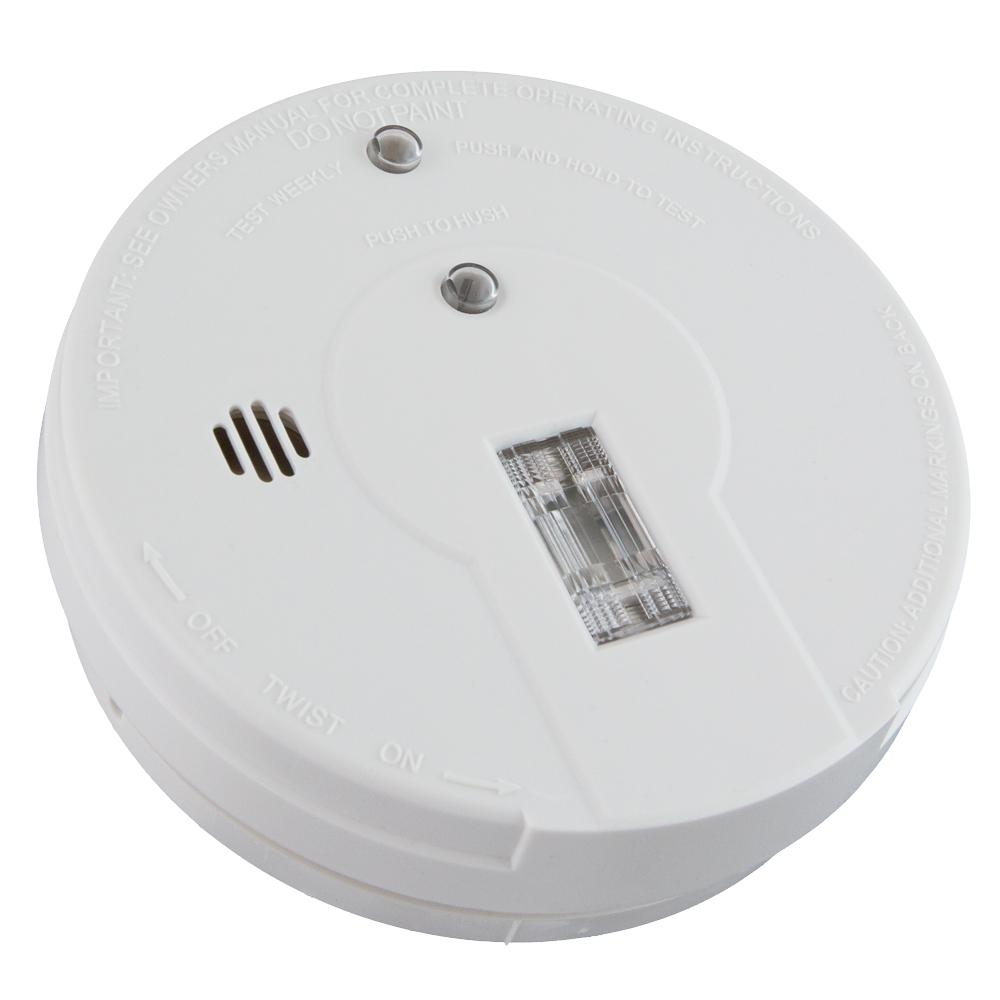 Battery Operated Smoke Detector with Safety Light